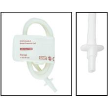 NiBP Disposable Cuff Single Tube  Neonate Size 2 (4-8cm) -  Soft Fiber (Box of 10)