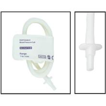 NiBP Disposable Cuff Single Tube  Neonate Size 4 (7-13cm) -  Soft Fiber (Box of 10)