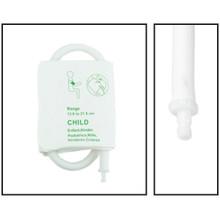 NiBP Disposable Cuff Single Tube Pediatric (13.8-21.5cm) - Soft Fiber (Box of 5)