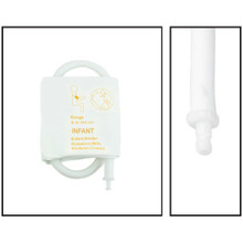 NiBP Disposable Cuff Single Tube Infant (9-14.8cm) - Soft Fiber (Box of 5)