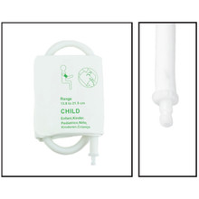 NiBP Disposable Cuff Single Hose Pediatric (13.8-21.5cm) - TPU (Box of 5)