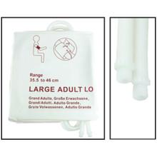 NiBP Disposable Cuff Dual Hose Large Adult Long (35.5-46cm) (Screw Fitting) PM08 - Soft Fiber (Box of 5)