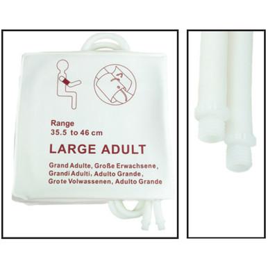 NiBP Disposable Cuff Dual Hose Large Adult (35.5-46cm) (Screw Fitting) PM08 - Soft Fiber (Box of 5)