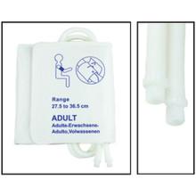 NiBP Disposable Cuff Dual Hose Adult Long (27.5-36.5cm) (Screw Fitting) PM08 - Soft Fiber (Box of 5)