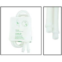 NiBP Disposable Cuff Dual Hose Pediatric (13.8-21.5cm) (Screw Fitting) PM08 - Soft Fiber (Box of 5)