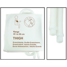 NiBP Disposable Cuff Dual Hose Thigh (45-56cm) (Screw Fitting) PM08 - Soft Fiber (Box of 5)