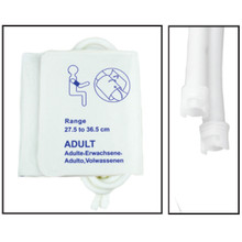 NiBP Disposable Cuff Dual Hose Adult Long (27.5-36.5cm) (Submin Fitting) PM18 - Soft Fiber (Box of 5)