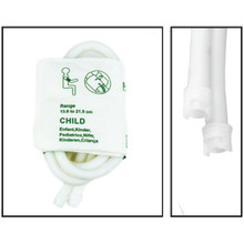 NiBP Disposable Cuff Dual Hose Pediatric (13.8-21.5cm) (Submin Fitting) PM18 - Soft Fiber (Box of 5)