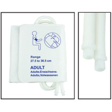 NiBP Disposable Cuff Dual Hose Adult (27.5-36.5cm) (Screw Fitting) PM08 - TPU (Box of 5)