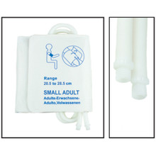 NiBP Disposable Cuff Dual Hose Small Adult (20.5-28.5cm) (Screw Fitting) PM08 - TPU (Box of 5)