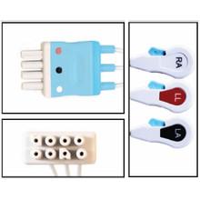 Nihon Khoden 3 Lead Dual Pin Disposable ECG (Snap) - (Box of 10)
