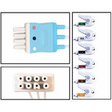 Nihon Khoden 6 Lead Dual Pin Disposable ECG (Grabber) - (Box of 10)