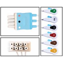 Nihon Khoden 6 Lead Dual Pin Disposable ECG Leadwires (Snap) - (Box of 10)