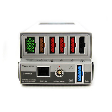 GE Marquette Tram 450SL Multi Parameter Module UMMQ3325 ECG Electrocardiograph Temperature NiBP IBP Non Invasive Blood Pressure SpO2 Pulse Oximetry Oximeter Defibrillator Synch