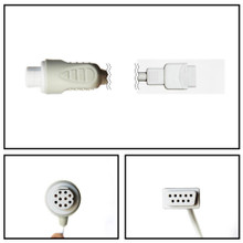 GE Datex-Ohmeda 10 Pin to DB9 SpO2 Extension Cable