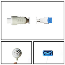 GE Datex-Ohmeda 10 Pin to TruSignal SpO2 Extension Cable 7ft