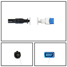 GE Datex-Ohmeda Hypertronics to TruSignal SpO2 Extension Cable