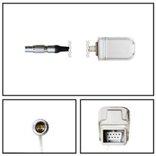 Invivo Lemo to Masimo DB9 SpO2 Extension Cable