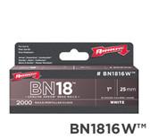"""BN1816W 1"""" White 25mm"""