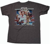 Mens Star Wars T-Shirt in Chocolate by Junk Food Clothing