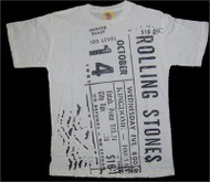 Rolling Stones Concert Ticket Boys T-Shirt by Junk Food Clothing