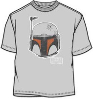 Star Wars Boba Fett Head Distressed Logo Mens T-Shirt