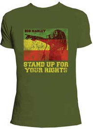 BOB MARLEY CATCH A FIRE RIGHTS MENS T-SHIRT
