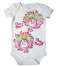 Dr. Seuss Plaid Things Baby Bodysuit