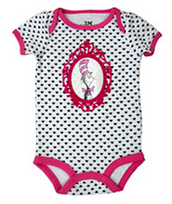 Dr. Seuss Cat in the Hat Framed Cat Baby Bodysuit