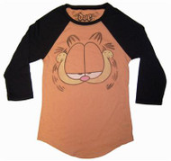 Garfield Face Vintage Womens Raglan T-Shirt by Doe