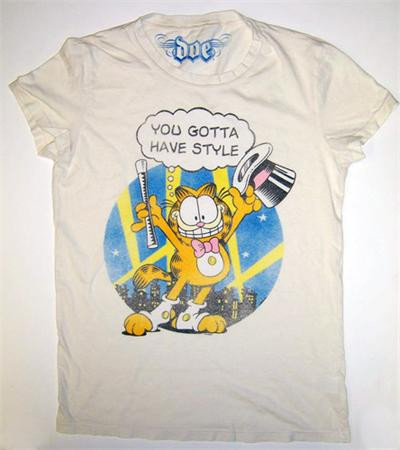 You Gotta Have Style Garfield Vintage Juniors T Shirt By Doe