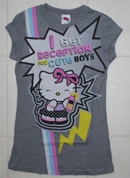 Hello Kitty I Get Reception From Cute Boys Girly Vintage T-Shirt by Mighty Fine