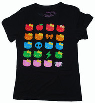 Hello Kitty Womens Vintage T-Shirt in Black by Mighty Fine