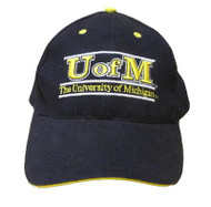 NCAA University of Michigan Blue Adjustable Embroidered Hat