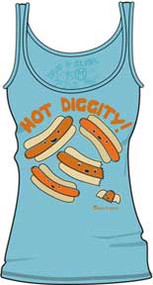 DAVID & GOLIATH Hot Diggity Juniors Beater Tank Top