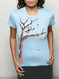 Vintage Style Money Tree Girly T-Shirt by Crooked Monkey