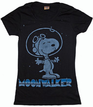 Peanuts Snoopy Moonwalker Vintage Womens T-Shirt by Mighty Fine