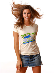 Vintage Style That's How I Roll Womens T-Shirt by Crooked Monkey