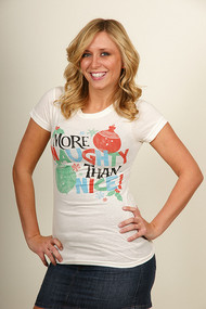 More Naughty Than Nice Womens T Shirt by Junk Food Clothing