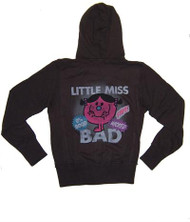 Little Miss Bad Glitter Girls Hoodie by Junk Food Clothing