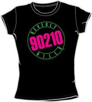 Beverly Hills 90210 Neon Sign Juniors T-Shirt
