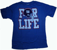 Mens New York Giants For Life T-Shirt by Junk Food Clothing
