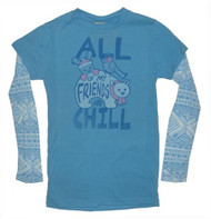 All My Friends Are Chill 2Fer Girls T-Shirt by Junk Food Clothing