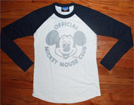 Disney Mickey Mouse Club Womens Raglan Shirt by Junk Food Clothing