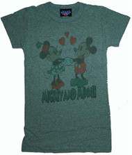Disney's Mickey Mouse & Minnie Womens T-Shirt by Junk Food Clothing