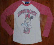 Disney Minnie Mouse Womens Raglan Shirt by Junk Food Clothing