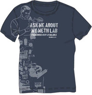 DAVID & GOLIATH ASK ME ABOUT MY METH LAB MENS TEE SHIRT