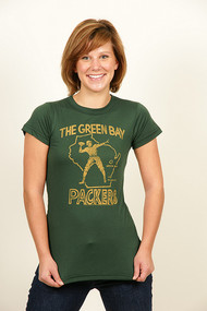 Green Bay Packers Girly T-Shirt by Junk Food Clothing