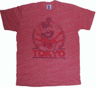 Mens Disney Mickey Mouse Tokyo Tri-Blend T-Shirt by Junk Food Clothing