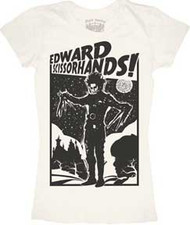 EDWARD SCISSORHANDS RETRO POSTER JUNIORS TEE SHIRT